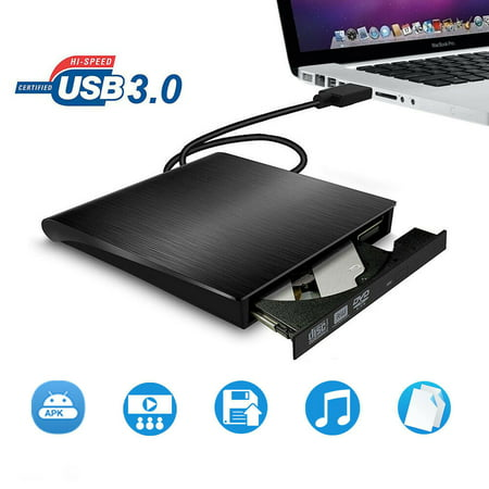 Ultra Slim External USB 2.0 DVD ROM Combo CD-RW Burner Drive For All Laptop PC Laptop Cd Rom Dvd