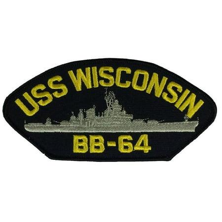 USS WISCONSIN BB-64 PATCH USN NAVY SHIP IOWA CLASS BATTLESHIP WISKY Iowa Class Battleship