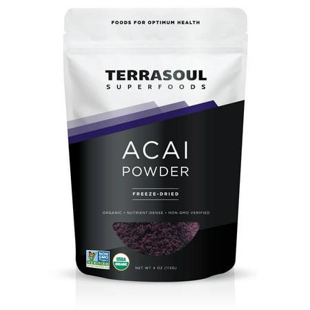 Terrasoul Superfoods Organic Acai Freeze-Dried Powder, 4.0 Oz