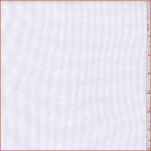 Ivory Cotton Rib Knit, Fabric By the Yard