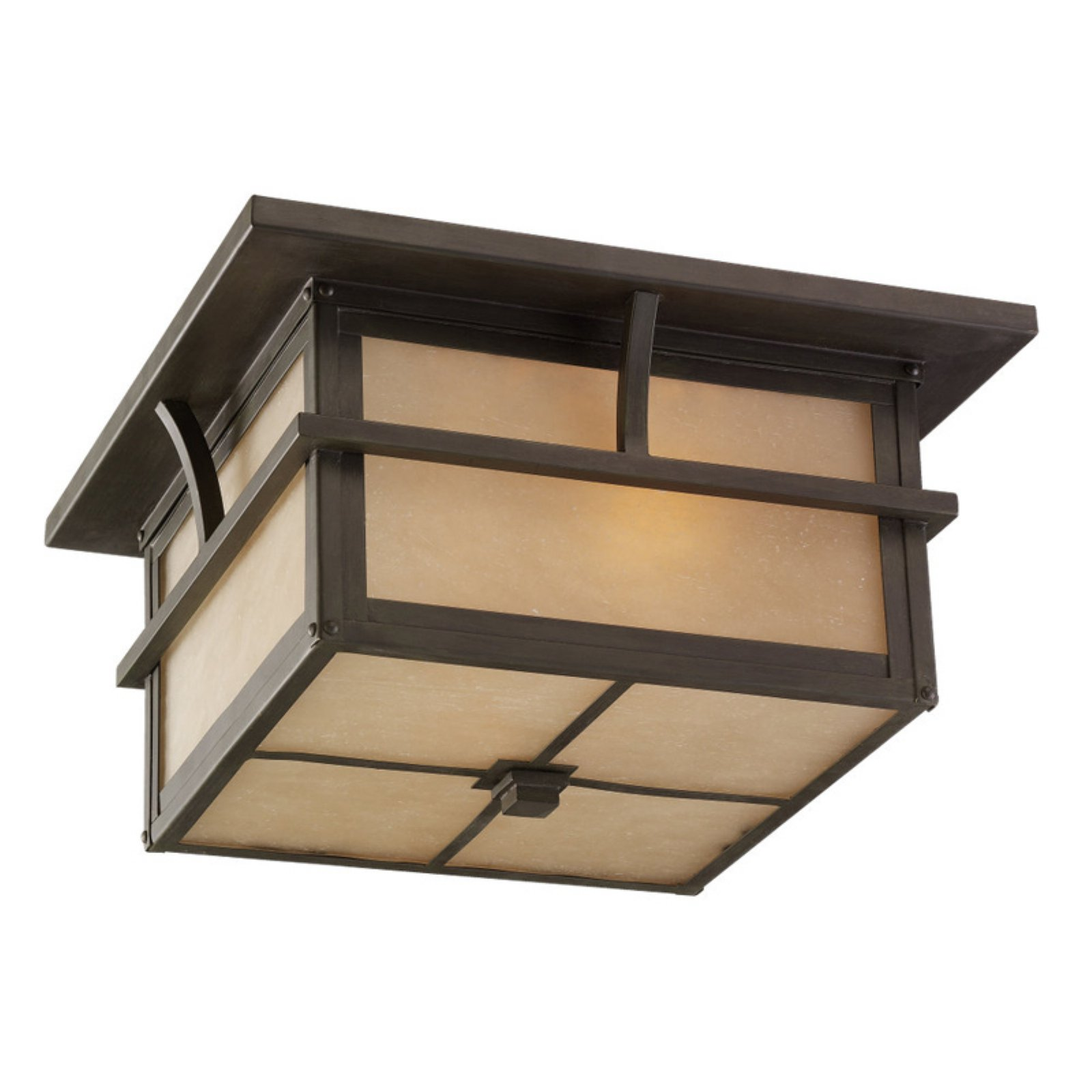 Sea Gull Medford Lakes Outdoor Ceiling Light - 7H in. Statuary Bronze