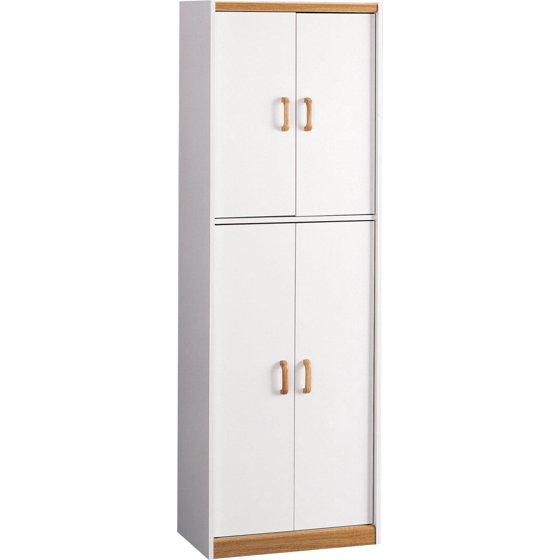"Kitchen Pantry At Walmart: Ameriwood Home Hannah 72"" Kitchen Pantry Cabinet, White"