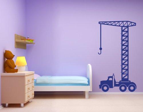 Kids Growth Chart Crane Wall Decal