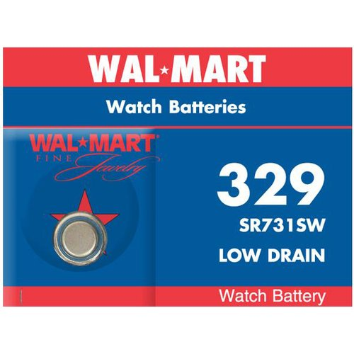 Wal-Mart Mercury-Free Silver Oxide 329 Watch Battery