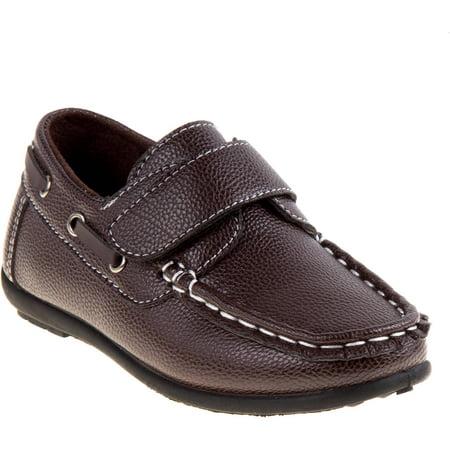 boys' casual boat shoe with velcro closure  walmart