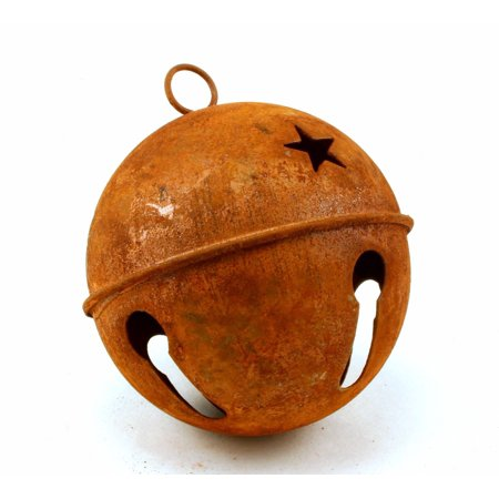 80mm 3.15 inch Giant Large Rusty Jingle Bell 1 Piece - Giant Jingle Bell