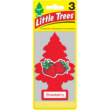 Little Tree Air Freshener, 3pk, Strawberry