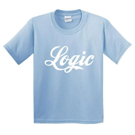 bfe5a15ae533 New Way - New Way 822 - Youth T-Shirt Logic Script Rapper Rap Hip-Hop  Medium Light Blue - Walmart.com