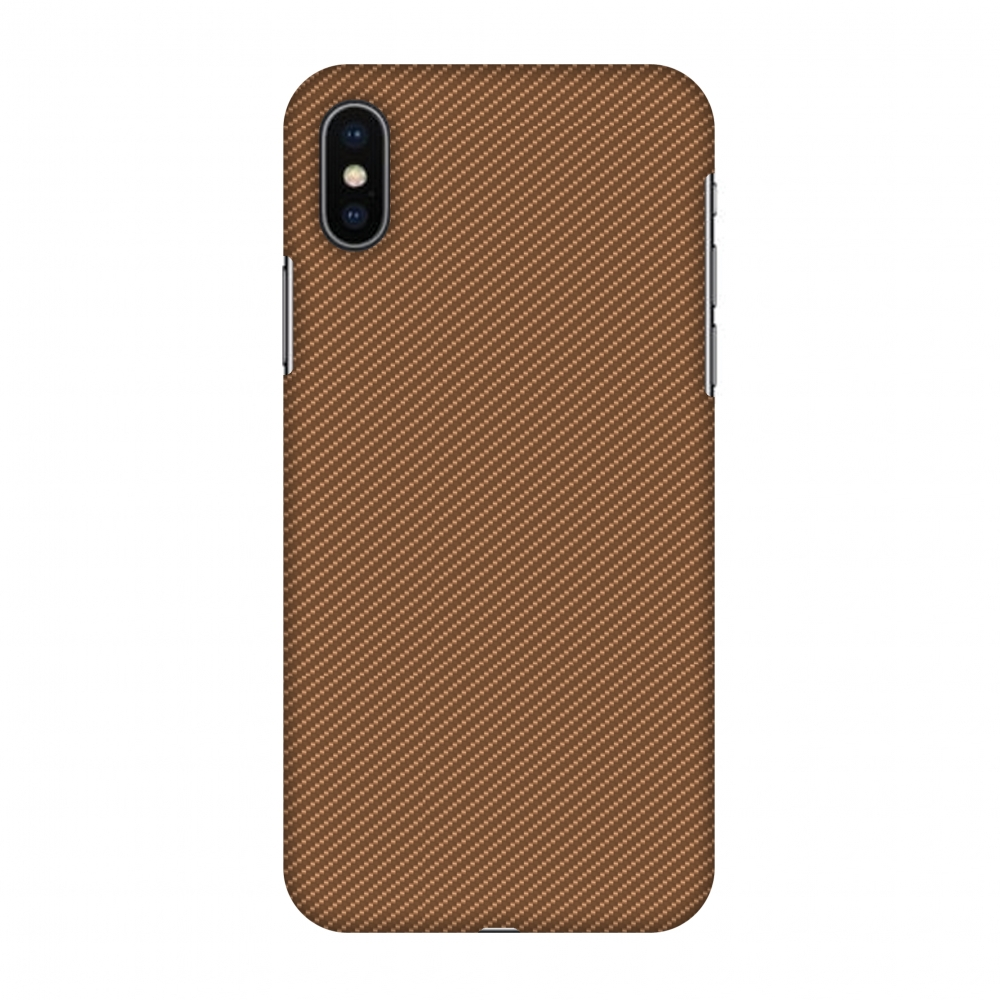 iPhone X Case - Butterum Texture, Hard Plastic Back Cover. Slim Profile Cute Printed Designer Snap on Case with Screen Cleaning Kit