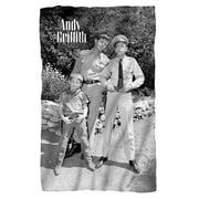 Trevco CBS1502-BKT1-0 Andy Griffith-Lawmen - Fleece Blanket, White - 36 x 58 in.
