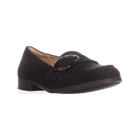 Womens naturalizer Mina Flat Comfort Loafers, Black Fabric, 6.5 US / 36.5 EU (Naturalizer Loafers Heels)