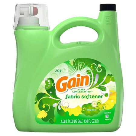 Ultra Concentrated Fabric (Gain Ultra Concentrated Liquid Fabric Softener, Original (138 fl. oz., 204 loads) )