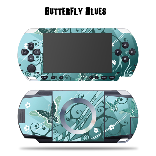 Mightyskins Protective Vinyl Skin Decal Cover Sticker for SONY PSP - Blue Vortex