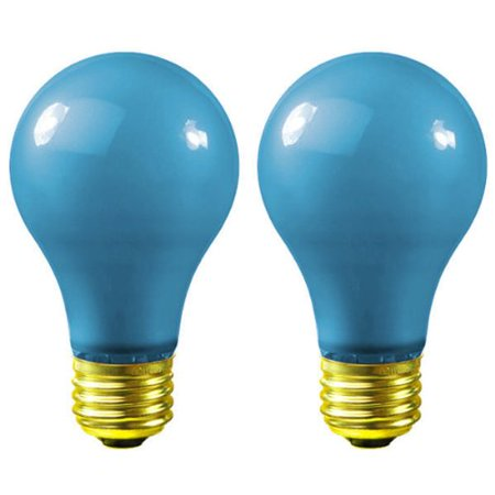40 Watt - Opaque Blue - A19 - 120 Volt - 1,250 Life Hours - Party Light Bulb ...