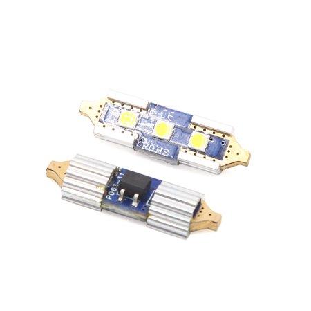2Pc 31mm Blanc 3 LED Festoon Voiture Lampe Inte DomeLampe 12V - image 1 de 3