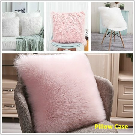 Soft Waist Fur Plush Cushion Cover Throw Pillow Cases Pillowcases Winter Warm for Sofa Bed Car