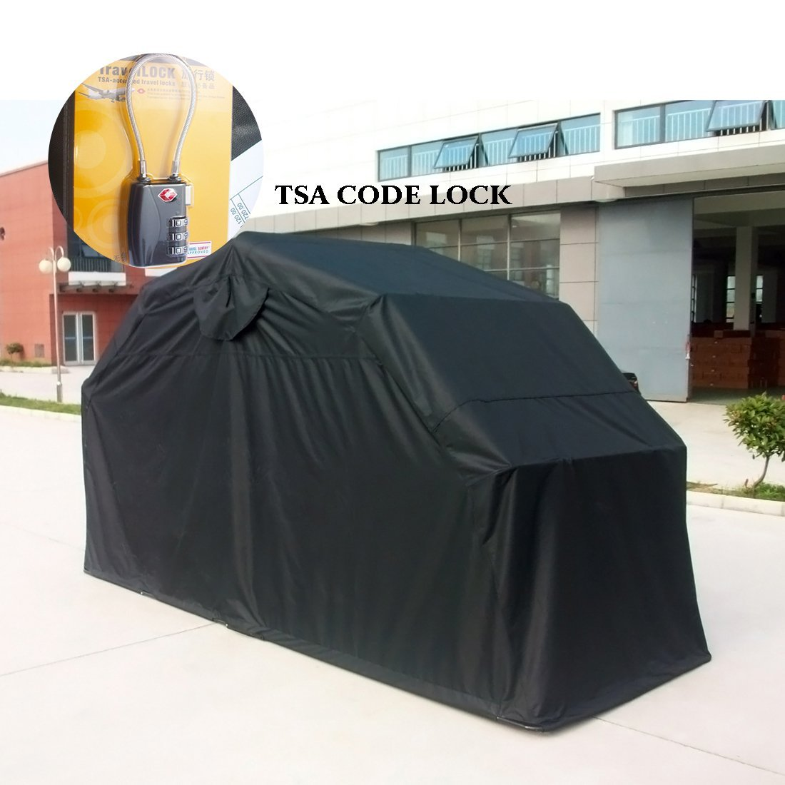 Quictent Heavy Duty Motorcycle Shelter Storage Garage Shield Tent With Lock  Large Size