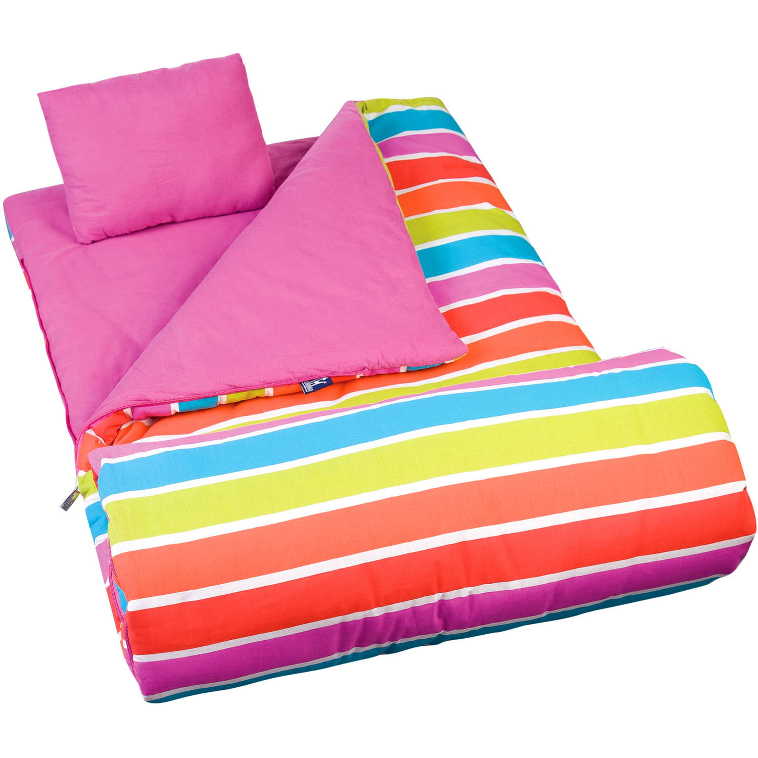 Wildkin Kids' Bright Stripes Sleeping Bag by Wildkin