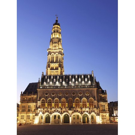 Petite Place (Gothic Town Hall (Hotel De Ville) and Belfry Tower, UNESCO World Heritage Site, Petite Place (Place Print Wall Art By Stuart)