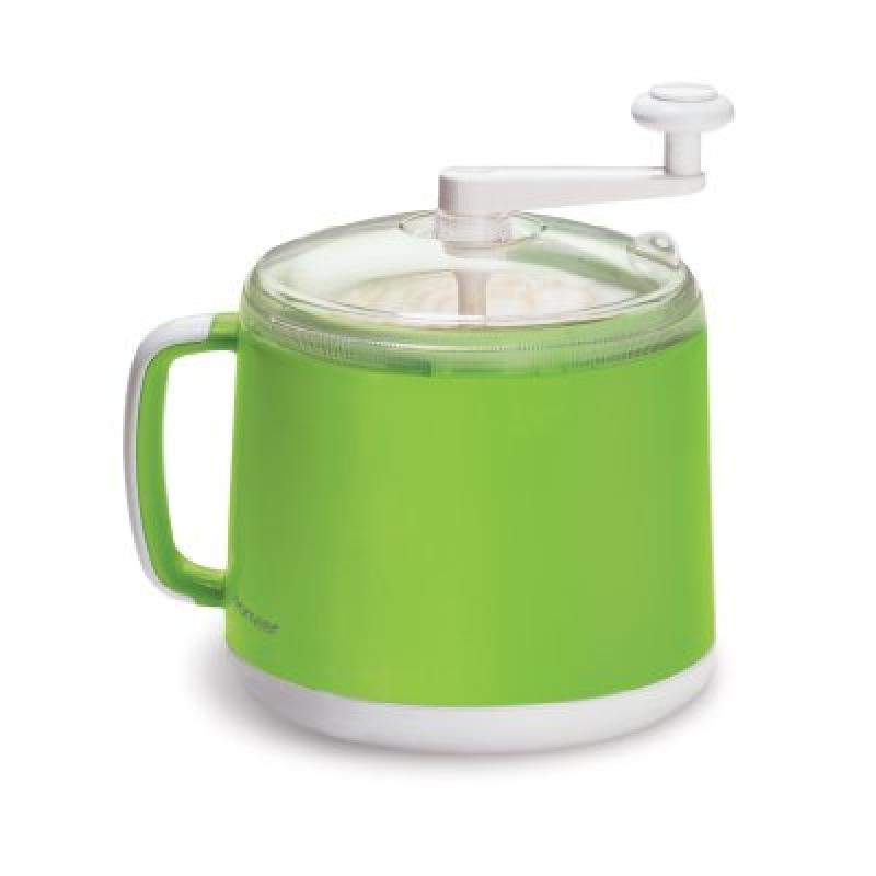 Donvier Manual Ice Cream Maker, 1-Quart, Green by