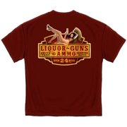 Cotton Liquor Guns & Ammo T-Shirt