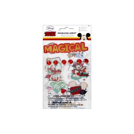 SandyLion Disney Mickey Sticker Decortn Medley (Sandylion Chipboard)