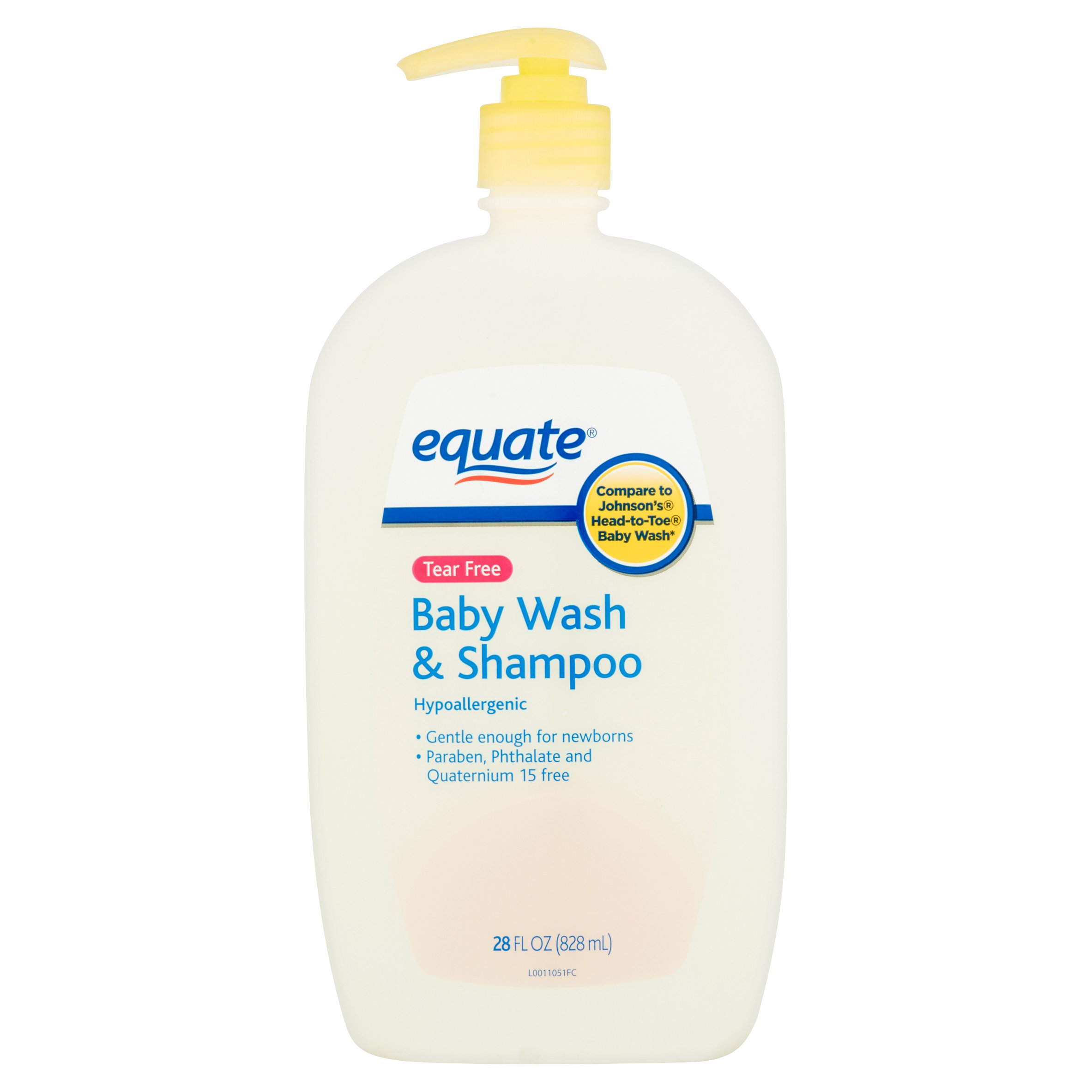 Equate Tear-Free Baby Wash & Shampoo, 28 Fl Oz
