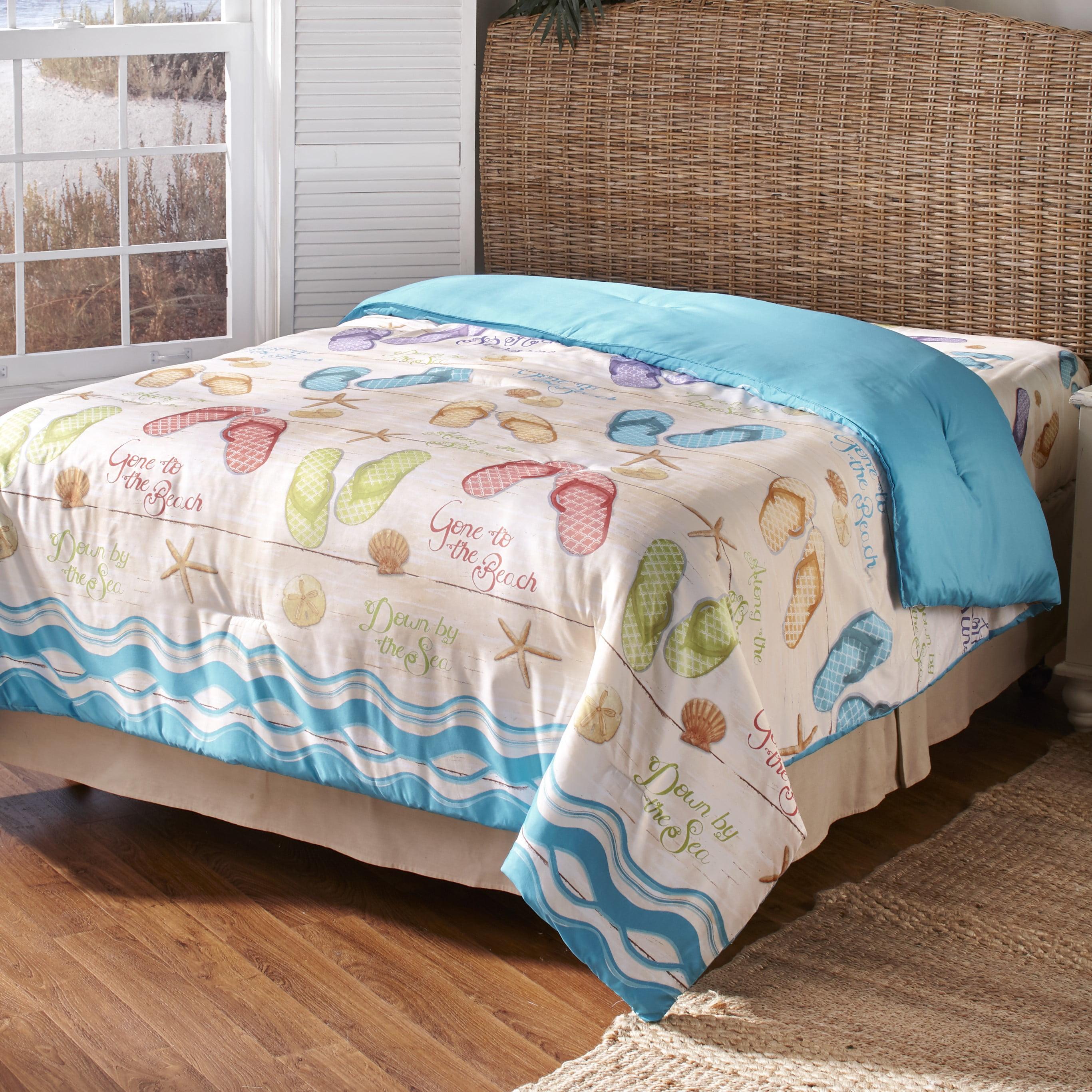 Flip Flop Comforter With Beach Vacation Themed Print Walmart Com
