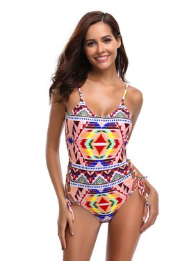 27df7fc39f53e Product Image Juniors  Swimsuit Stylish Bohemian Printed Monokini One Piece  Swimsuit (Small