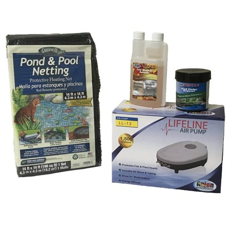 Half Off Ponds Pond Care and Maintenance Kit - Fall and Winter Package with Aerator 1500 gallons