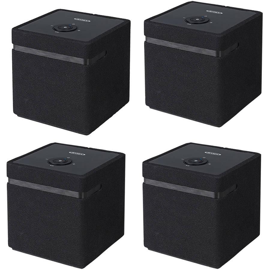 Jensen JSB-1000 Bluetooth WiFi Stereo Smart Speaker with Chromecast, 4-Pack