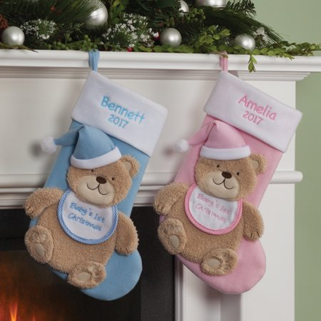 Baby Boy's or Girl's 1st Christmas Personalized Christmas Stocking ()