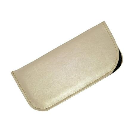 c90f816b7221 Soft Slip In Eyeglass Case For Women - Faux Leather Slip Case in Metallic  Gold - Walmart.com