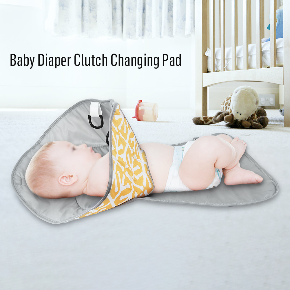 Yosoo 3 in 1 Portable Baby Diaper Clutch Changing Pad Infant Toddler Foldable Mat Cover,Diaper Clutch, Foldable Diaper Changing Pad