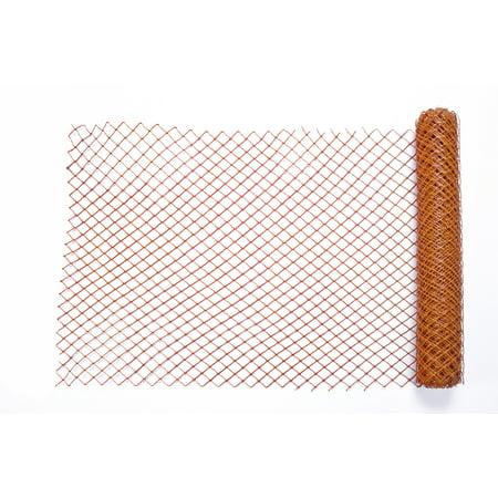 High Density Polyethylene (HDPE) Diamond Link Safety Fence, 50 ft. Length x 4 ft. Width, Orange ()