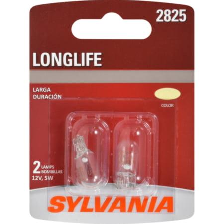 Sylvania 2825 Long Life Miniature Automotive Bulbs - 2 times the life of standard bulbs - 12V, 5W, 2/card, sold by card