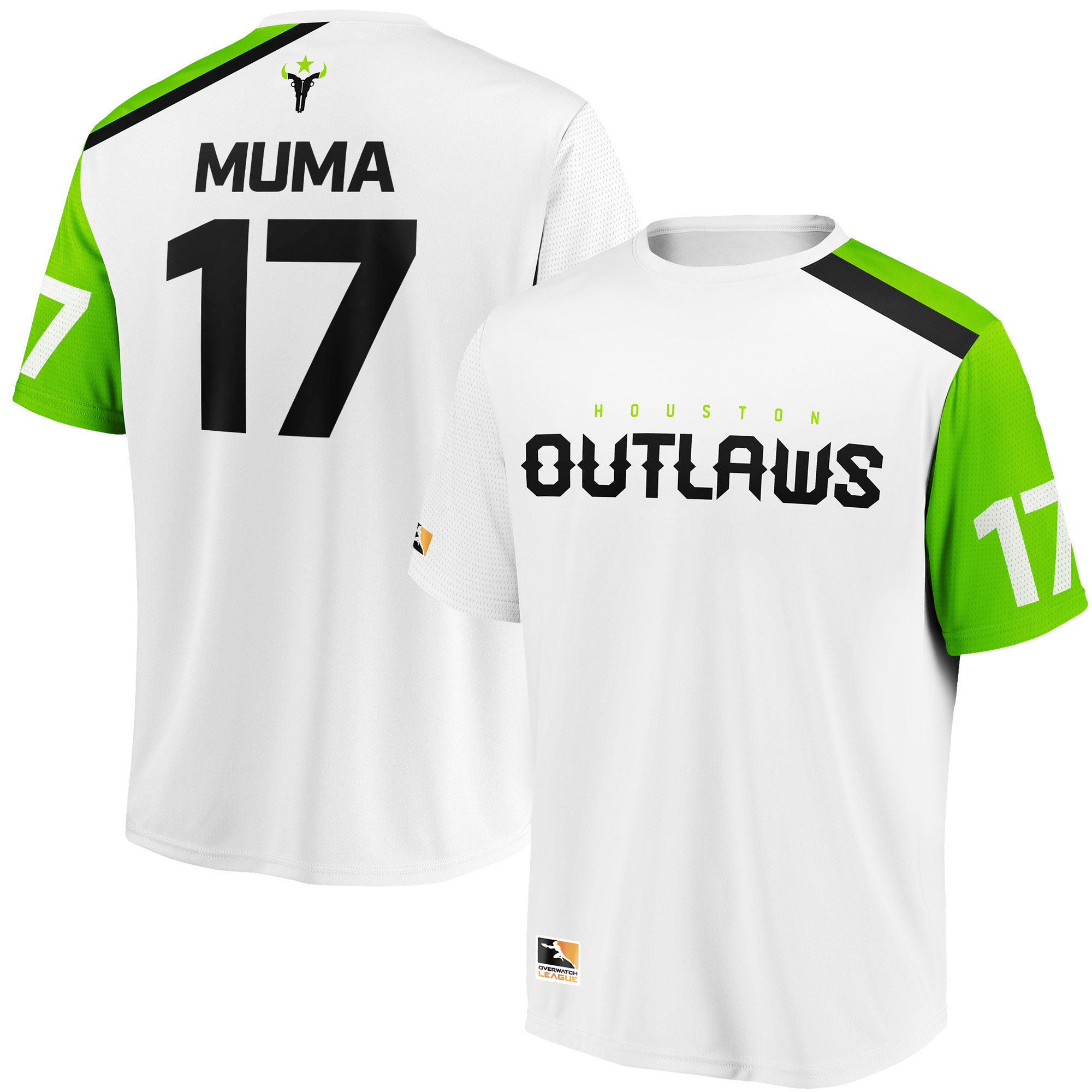 Muma Houston Outlaws Overwatch League Replica Away Jersey - White