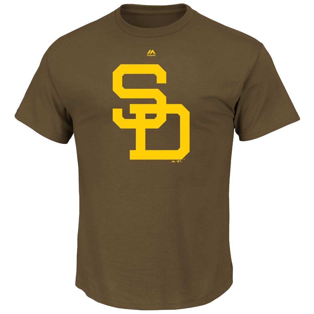 "San Diego Padres Majestic MLB ""Official Logo"" Cooperstown Men's S/S T-Shirt"