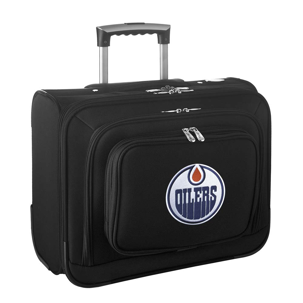 Denco NHL Wheeled Laptop Overnighter, Edmonton Oilers by Mojo Licensing