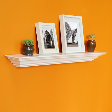 Welland 24 Corona Crown Molding Floating Wall Shelf White
