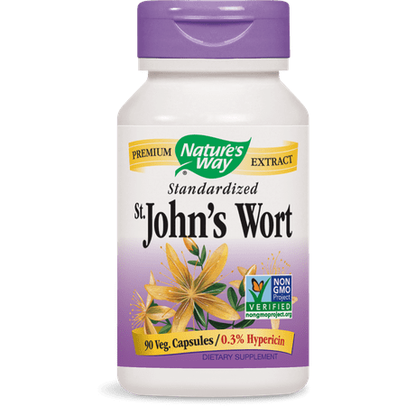 Nature's Way St. John?s Wort Standardized Non-GMO Project Verified, Tru-ID? Certified, 90 Ct