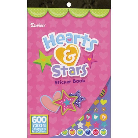 Sticker Book Hearts And Stars 600Pc - Star Stickers