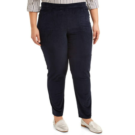 Just My Size Women's Plus Size Stretch Corduroy 2 Pocket Pant, Available in Regular and Petite Lengths 5 Pocket Corduroy Pants