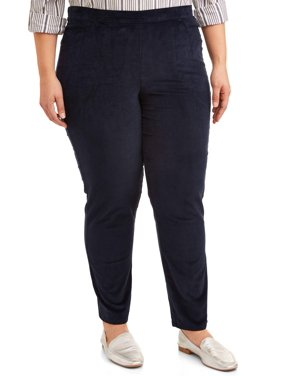 Just My Size Women's Plus Size Stretch Corduroy 2 Pocket Pants, Available in Regular and Petite Lengths