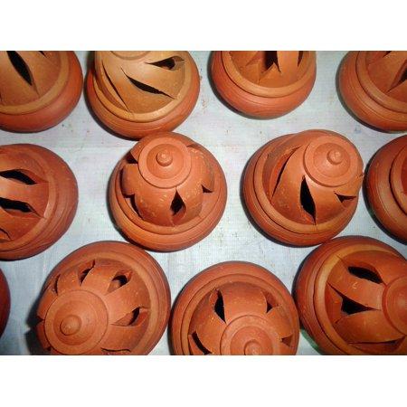 Canvas Print Handmade Handcrafts Art Clay Pottery Handcraft Stretched Canvas 10 x 14 Handmade Art Pottery