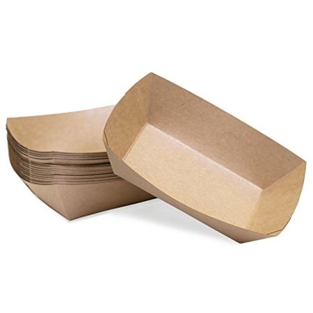 large (2 lb.) kraft paper food tray | 25