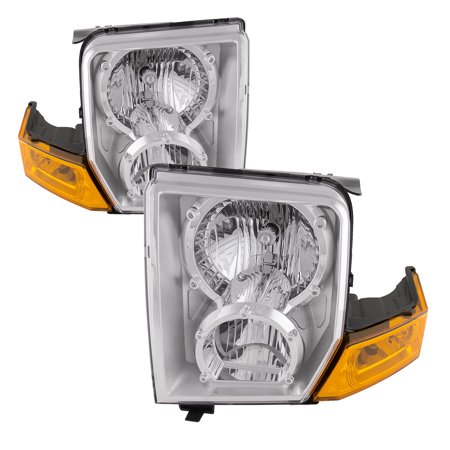 2006-2009 Jeep Commander New Halogen Headlights Set CH2518117 and CH2519117