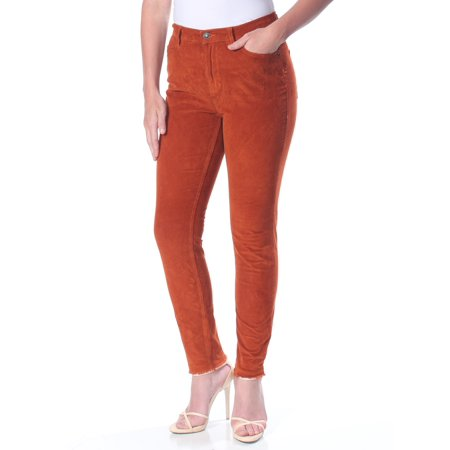 FREE PEOPLE Womens Orange Corduroy  Hi-rise Jeans  Size: 30 Waist