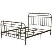 Denise Austin Home Yucatan Queen Champagne Iron Bed by GDF Studio
