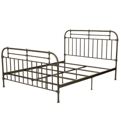 denise austin home yucatan queen champagne iron bed